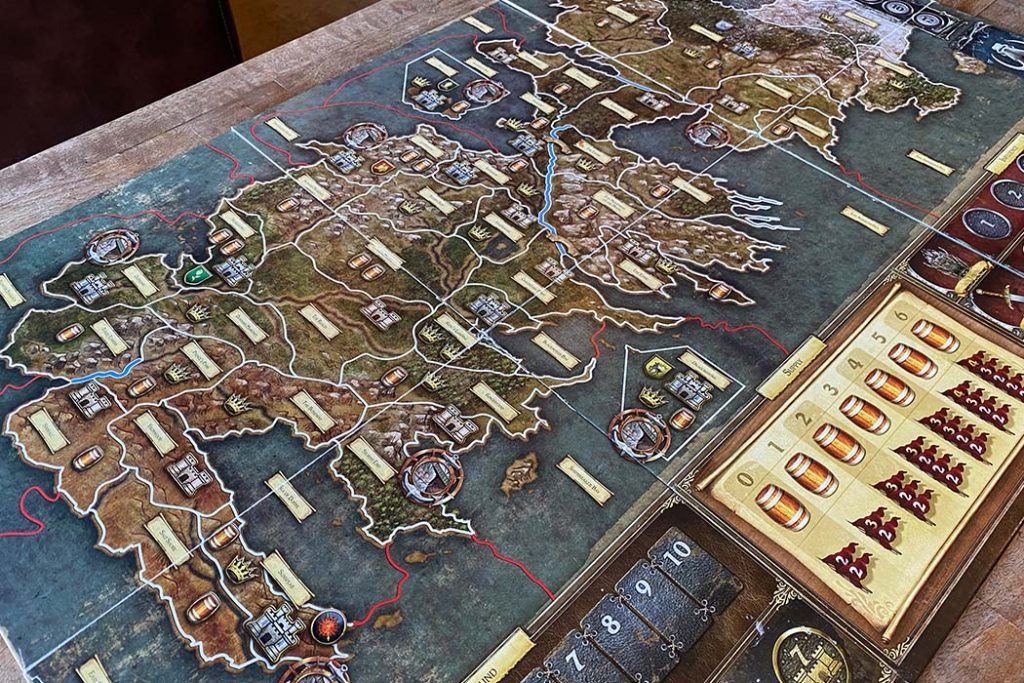A Game of Thrones Board Game Map