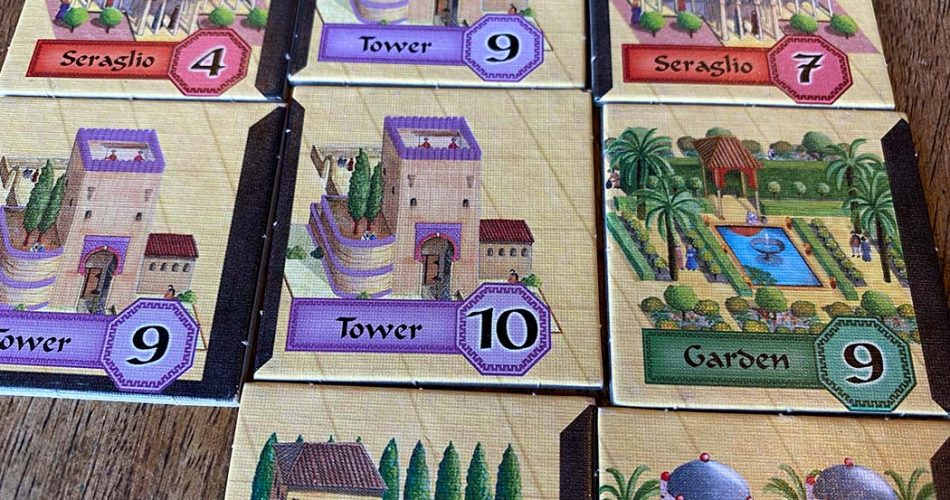 Alhambra Board Game Building Tiles