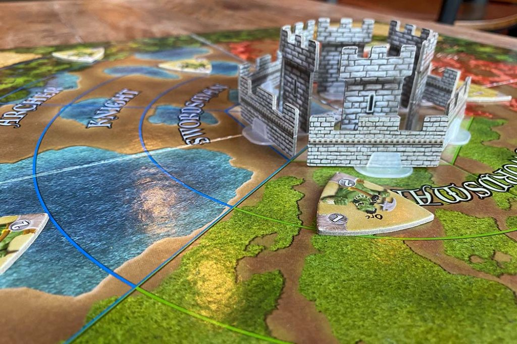 Castle Panic Board Game Tower Wall