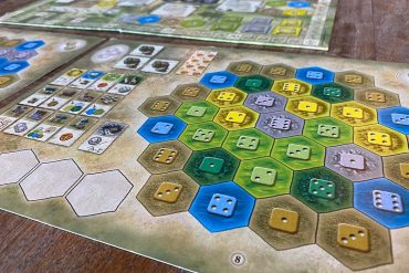 Castles of Burgundy Board Game Player Tableau