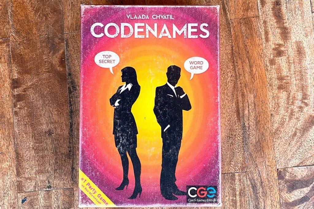 Codenames Board Game Decoder Box Art