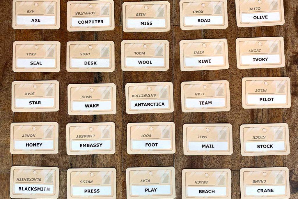 Codenames Board Game Clue Grid