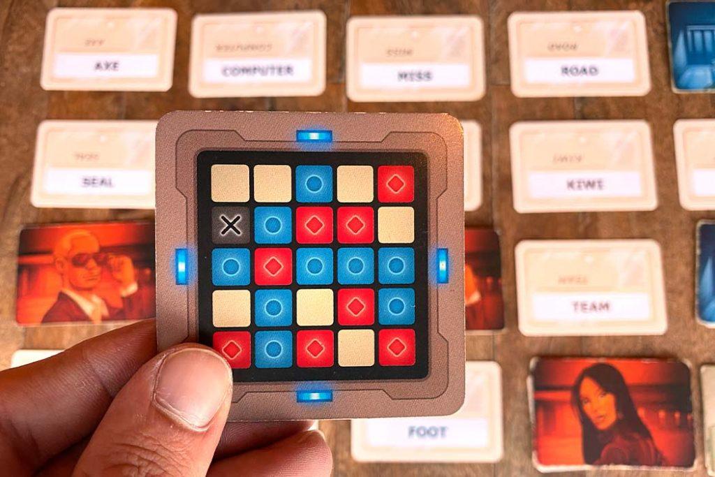 Codenames Board Game Decoder Answer Card
