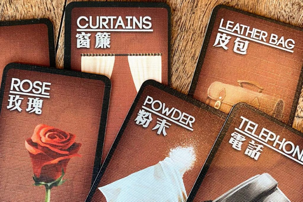 Deception Murder in Hong Kong Board Game Clue Cards