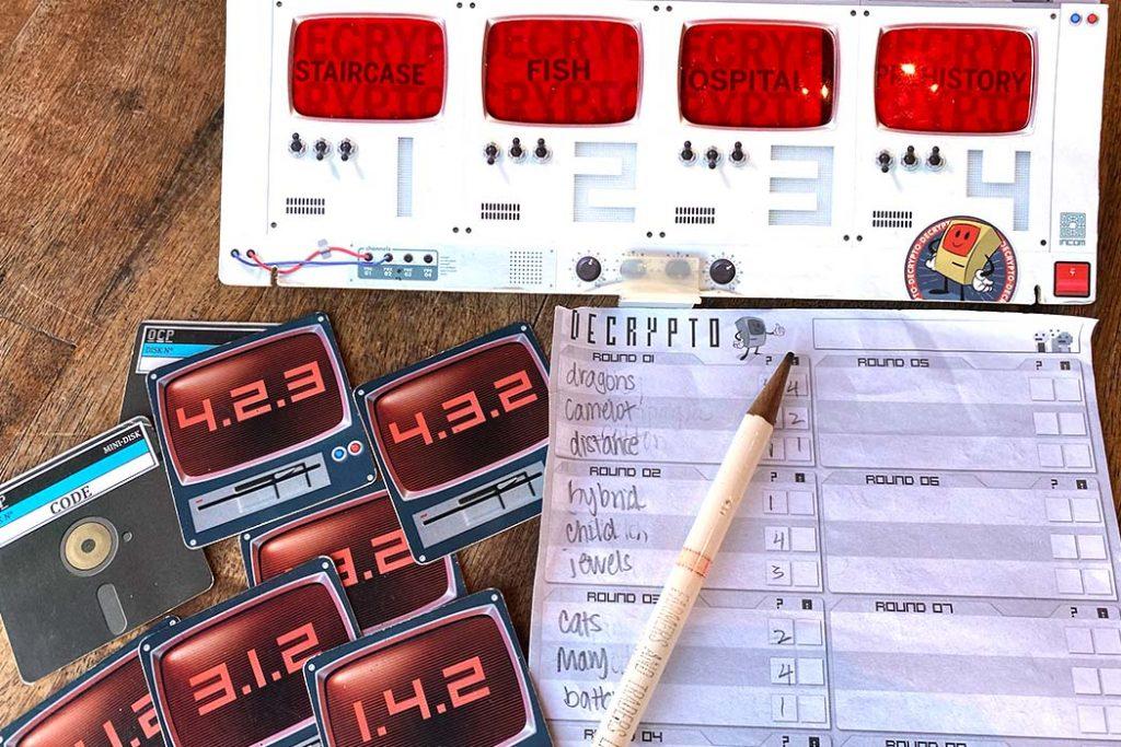 Decrypto Board Game Components