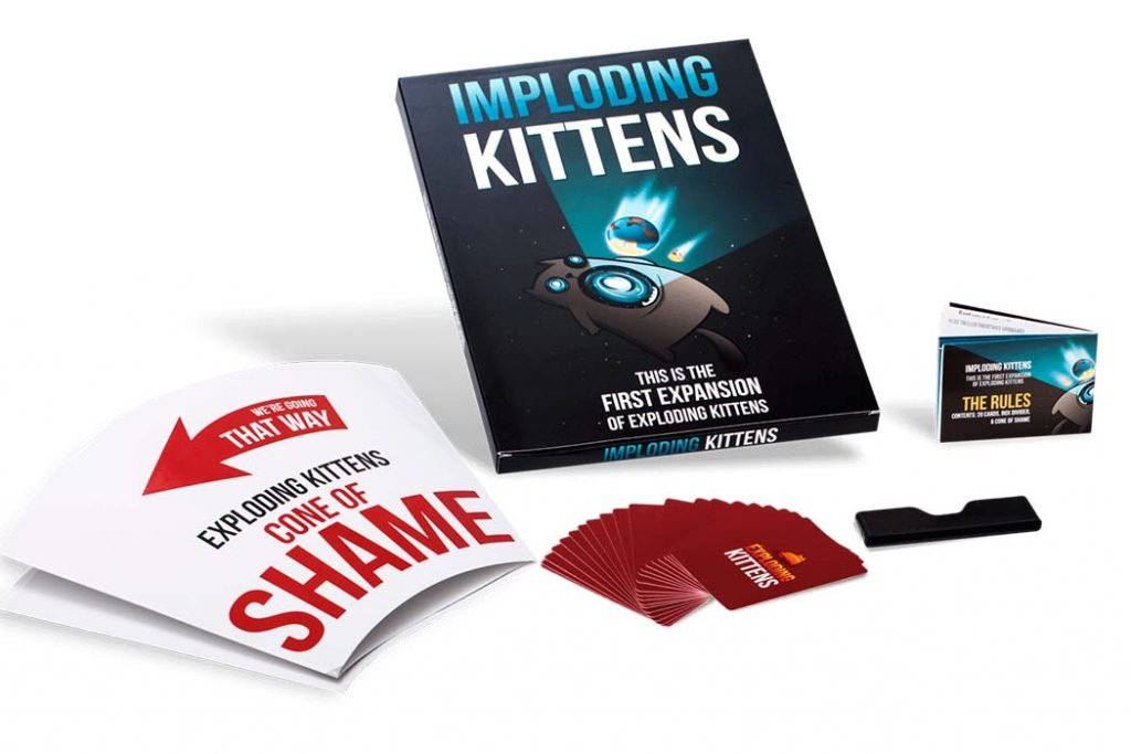 Exploding Kittens Expansions Imploding Kittens Components