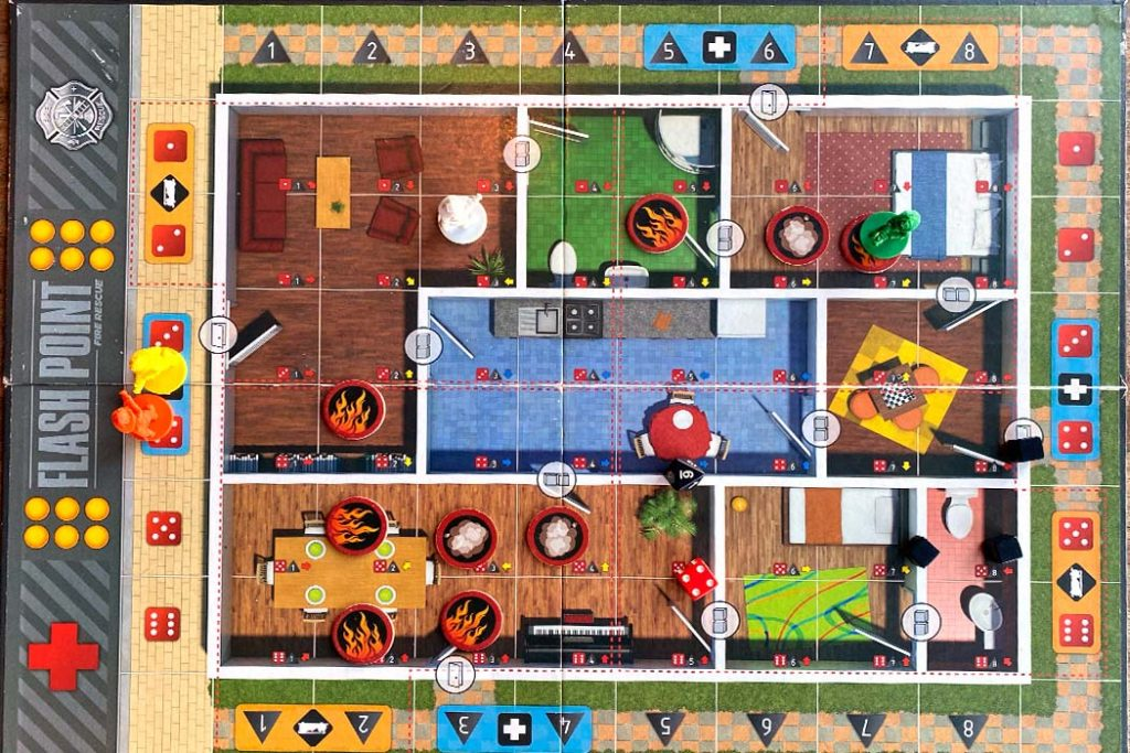Flash Point Fire Rescue Board Game Overview
