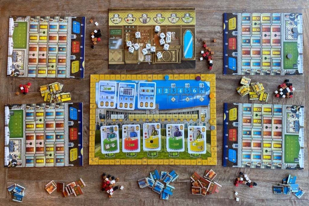 Grand Austria Hotel Board Game 4 Player Gameplay