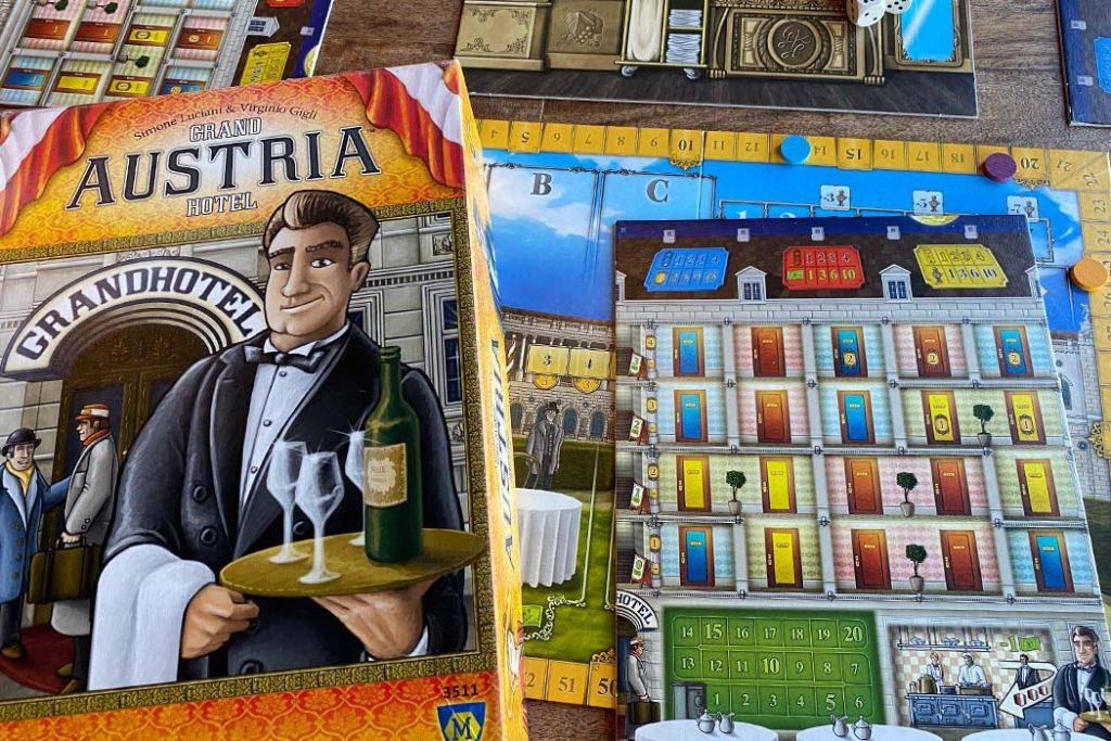 Grand Austria Hotel Board Game Box Art