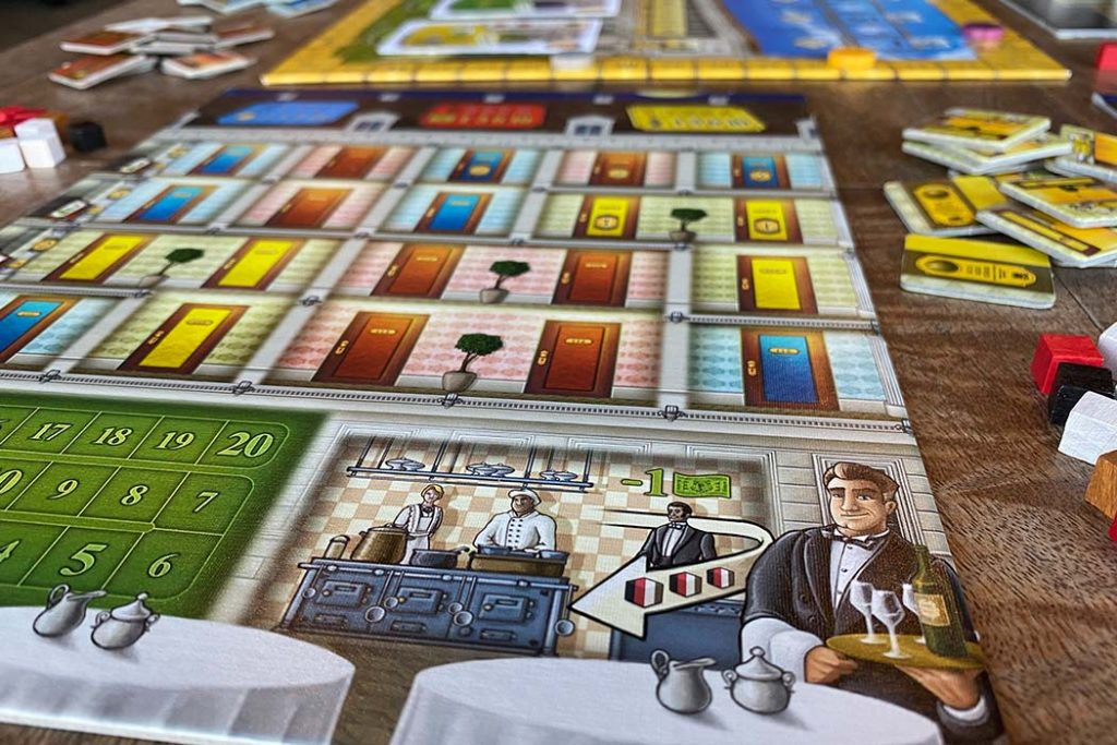 Grand Austria Hotel Board Game Tableau