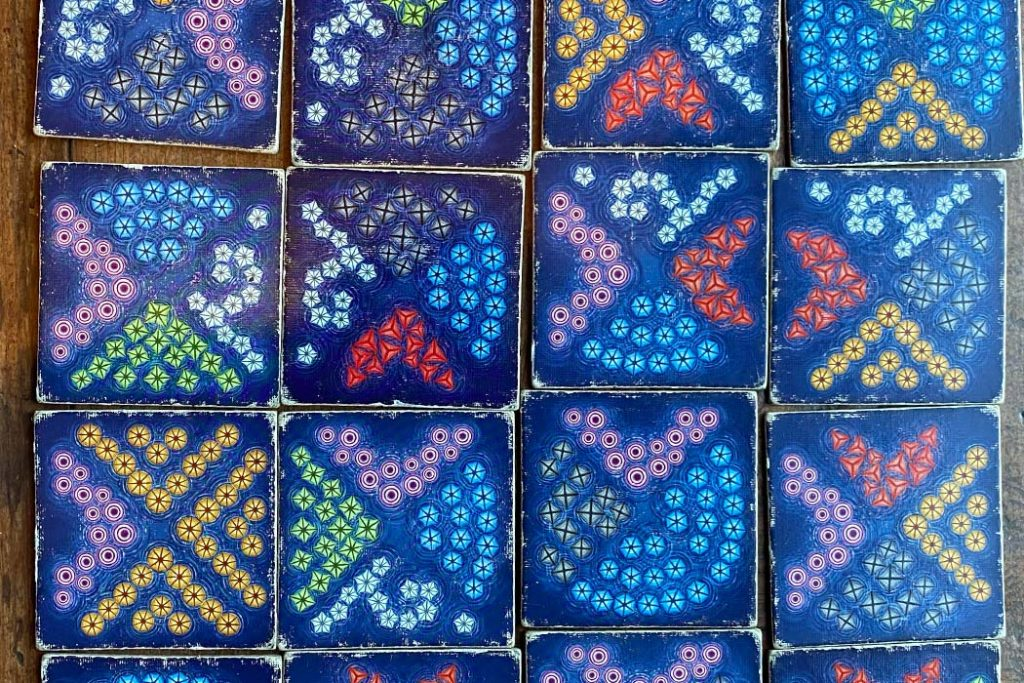 Lanterns The Harvest Festival Fireworks Tiles