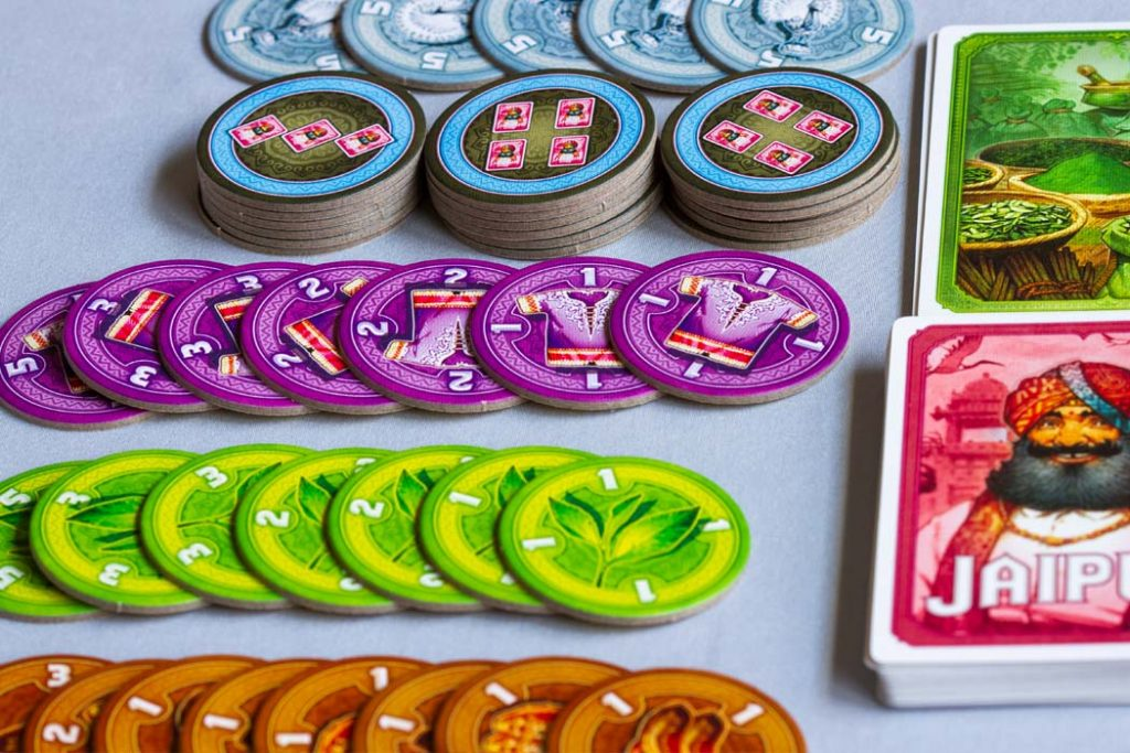 Jaipur Board Game Goods Tokens