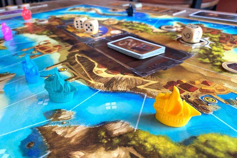 Jamaica Board Game Ship Sail