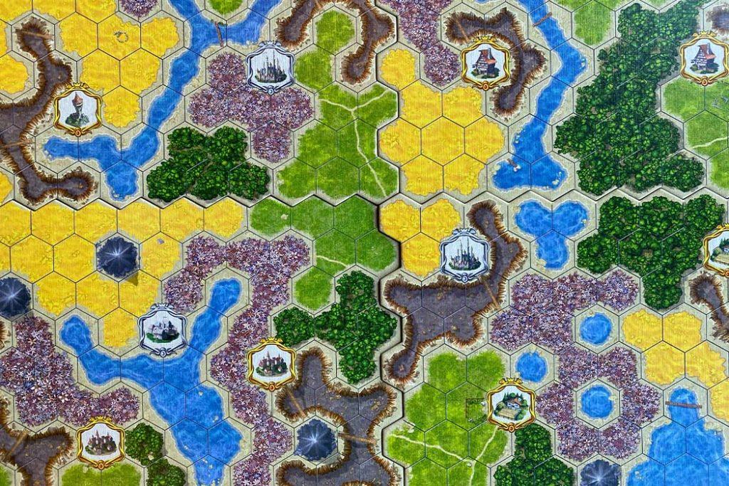 Kingdom Builder Board Game Layout