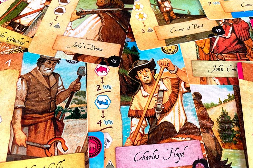 Lewis and Clark Board Game Cards