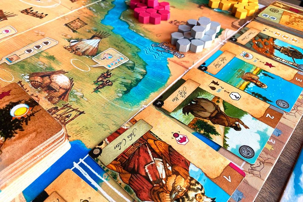 Lewis and Clark Board Game Player Area