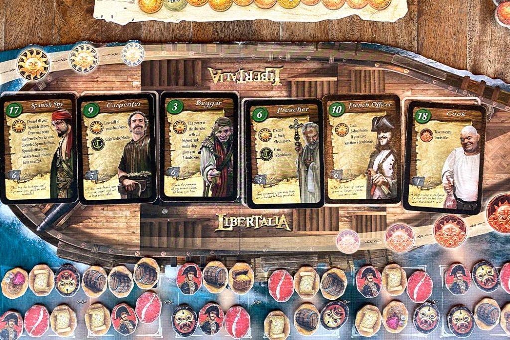 Libertalia Board Game Play Grid