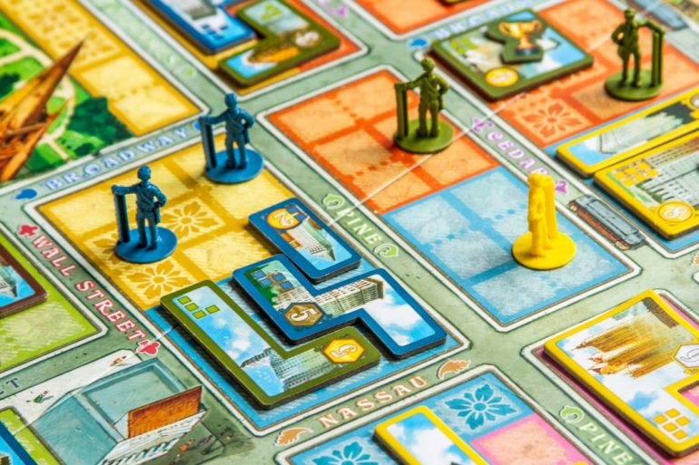 New York 1901 Board Game Worker Land Deal