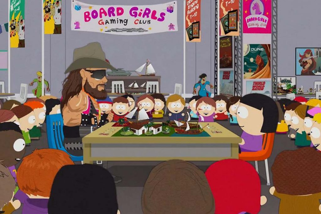 South Park Board Girls Gaming Club