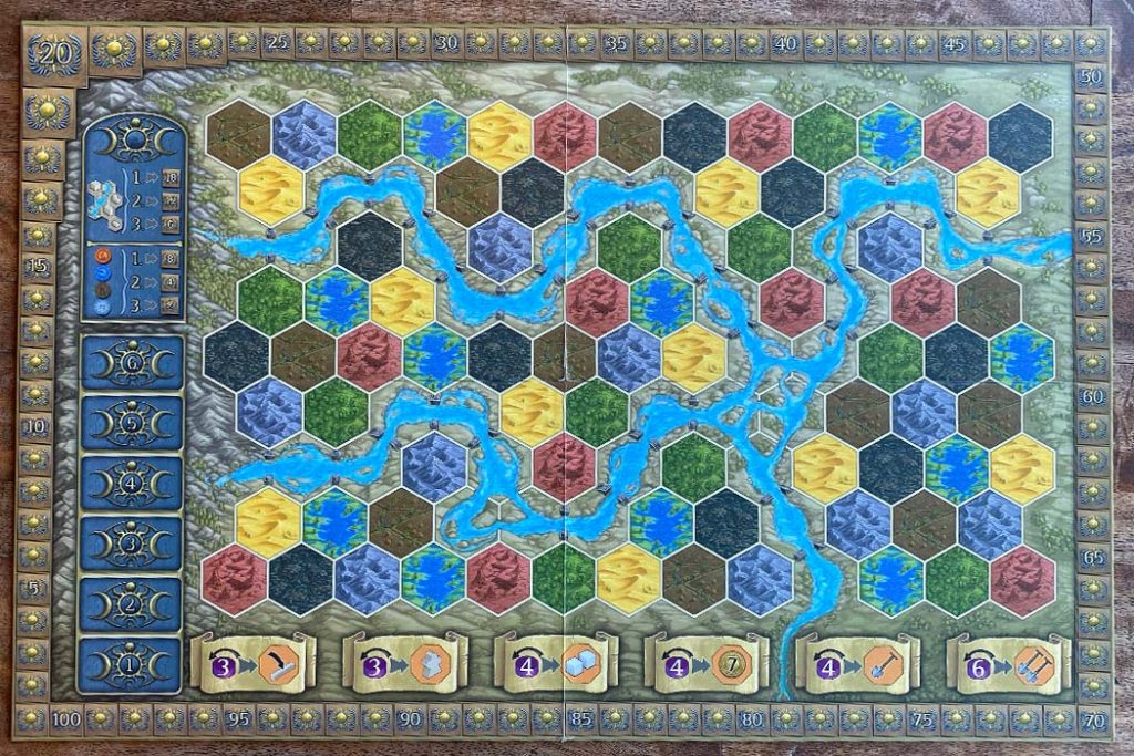 Terra Mystica Board Game Play Area