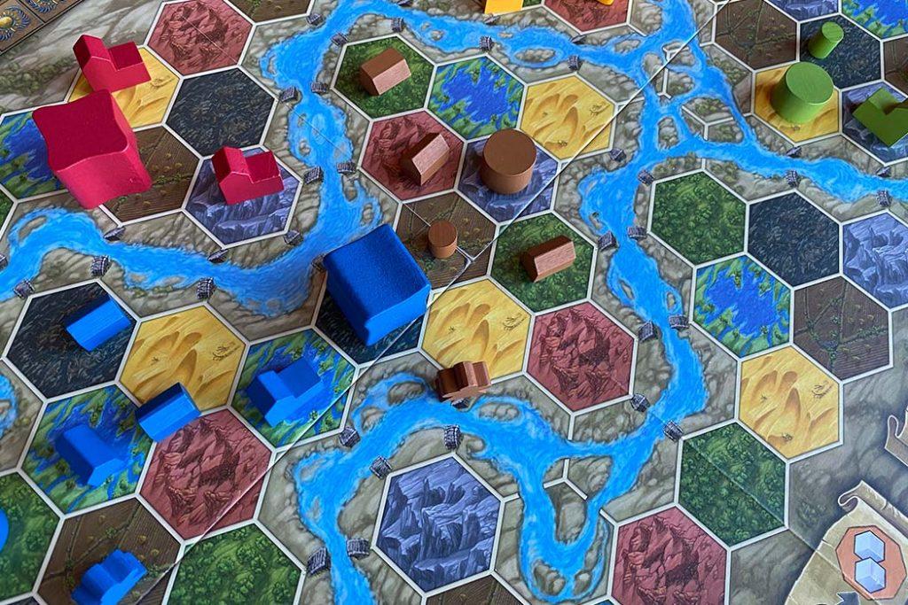 Terra Mystica Board Game Player Pieces