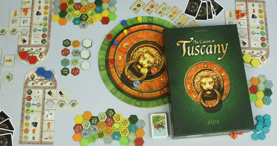 The Castles of Tuscany Board Game Box Art