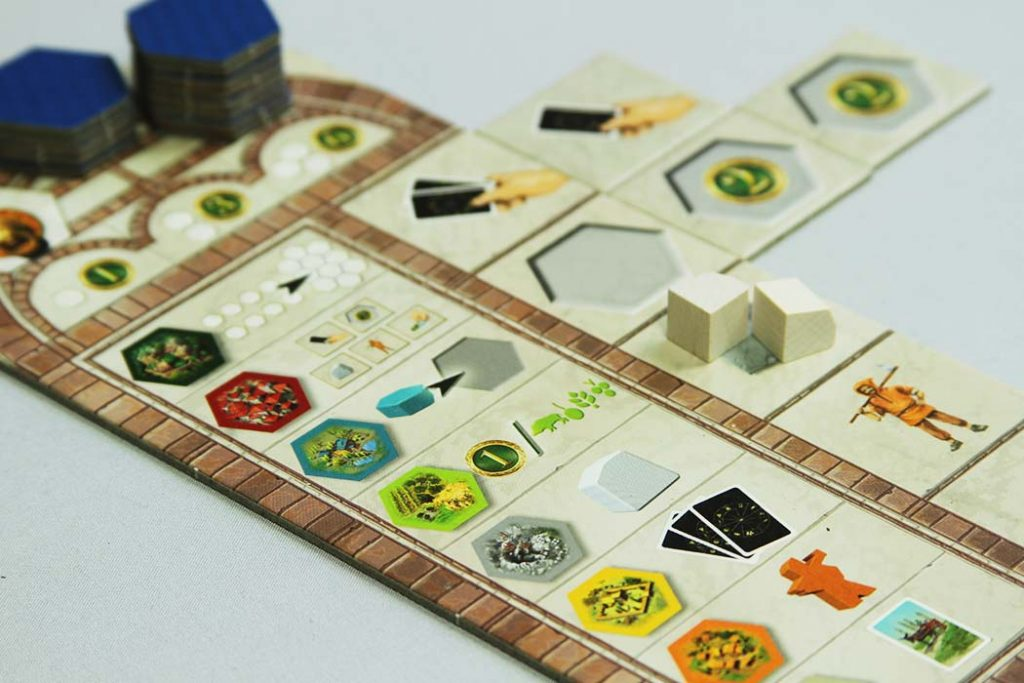 The Castles of Tuscany Board Game Player Board Tableau