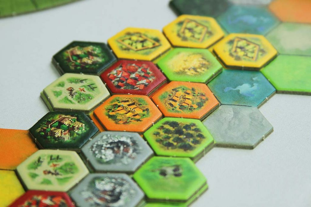 The Castles of Tuscany Board Game Region Tiles