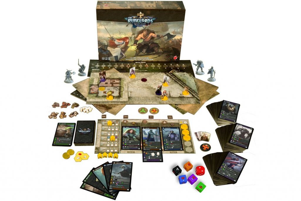 The Runelords Board Game Kickstarter Components