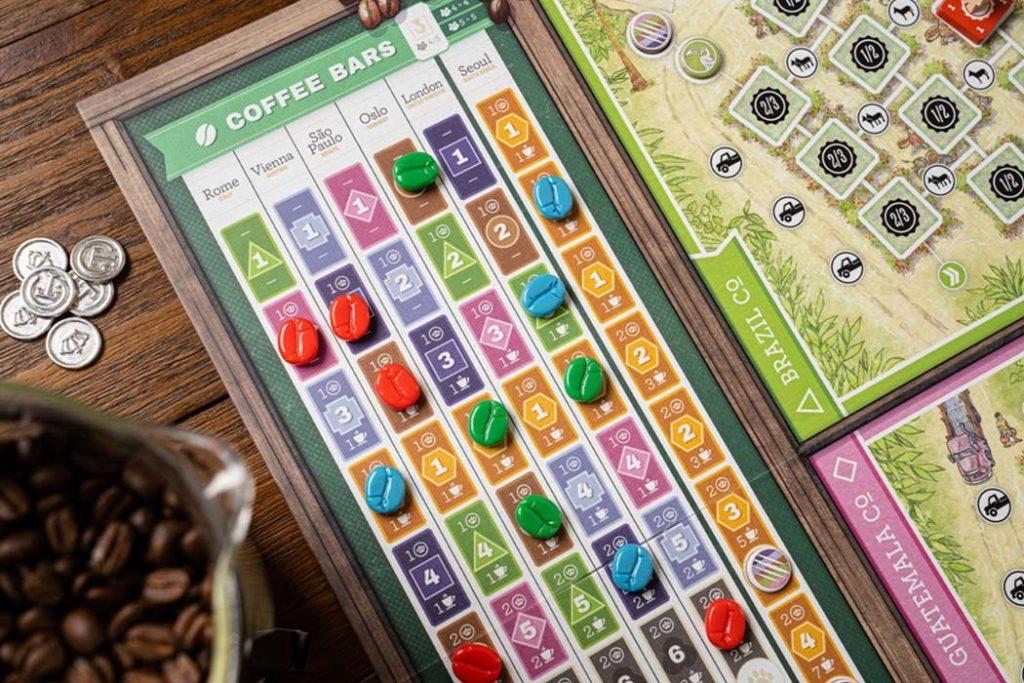 Coffee Traders Board Game Bar Score Card