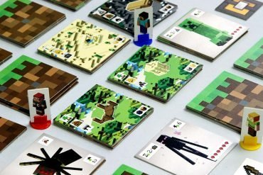 Minecraft Builders and Biomes Board Game Grid Play