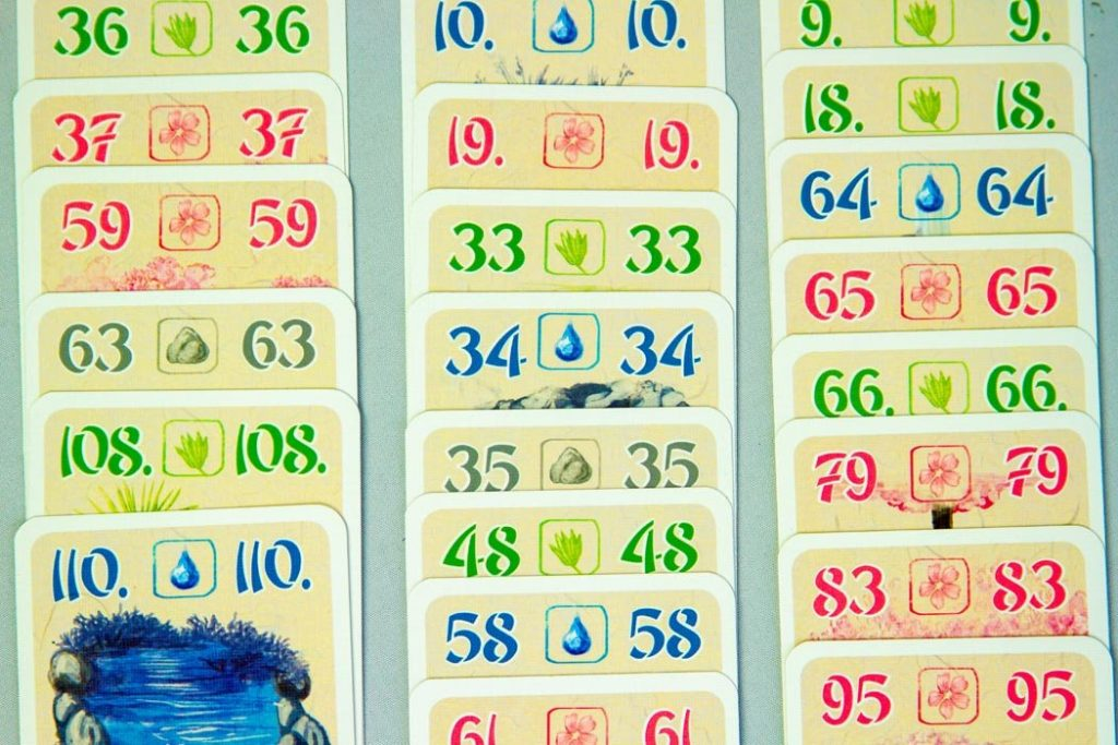 Ohanami Board Game Number Cards