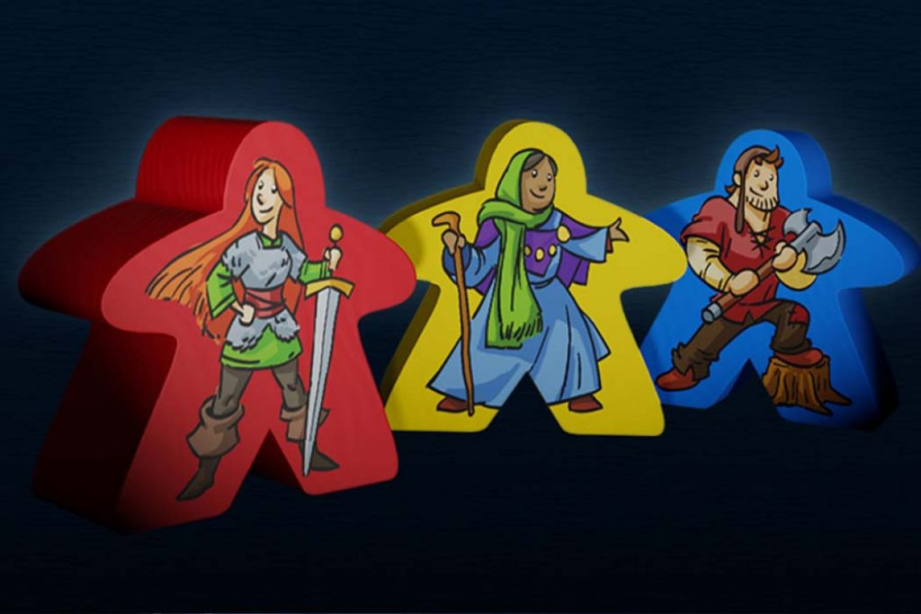 Carcassonne 20th Anniversary Meeples
