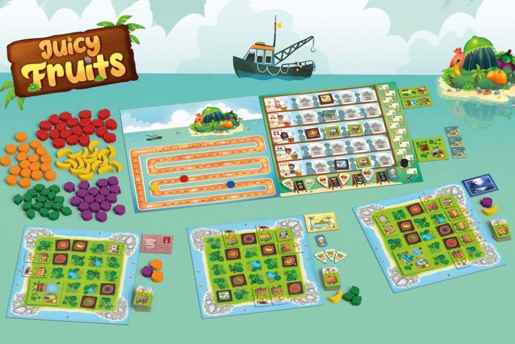 Juicy Fruit Board Game Components