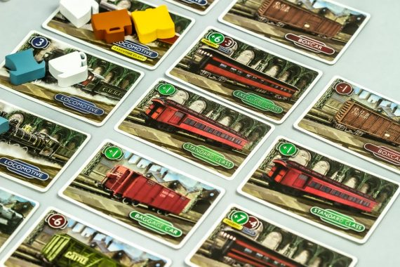 Station Master Board Game Train Yard Cards