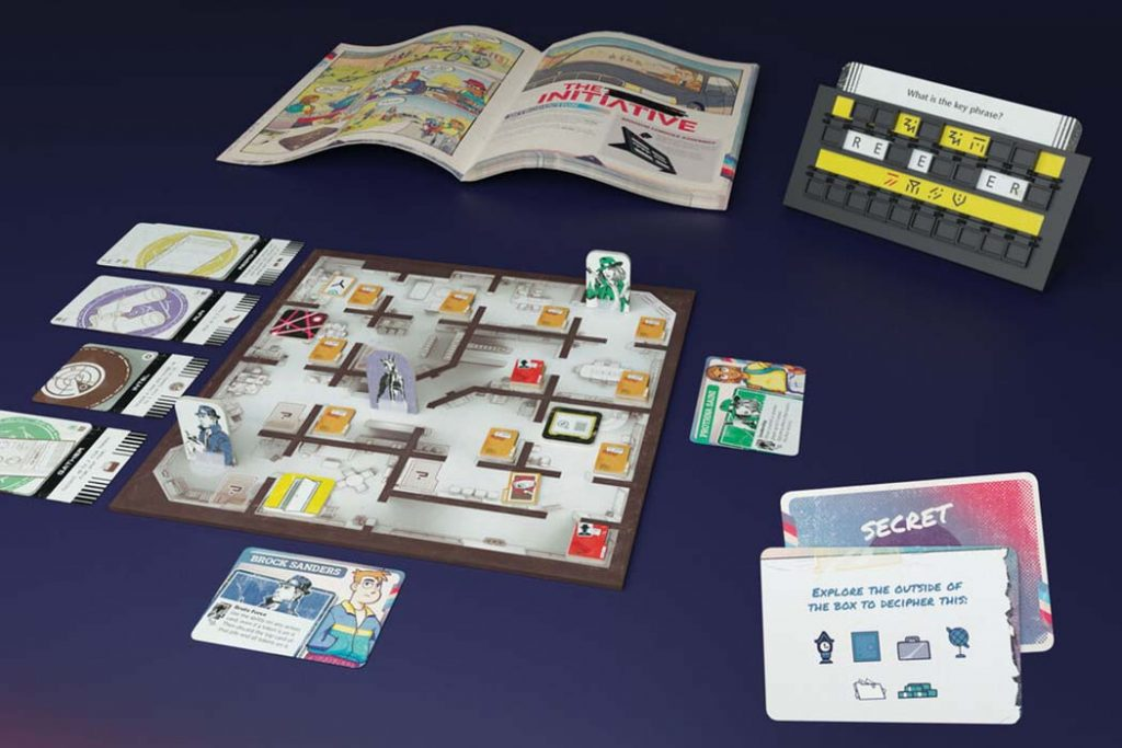 The Initiative Preview Board Game Components