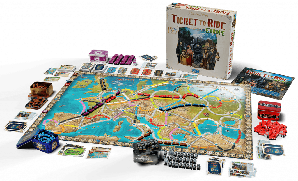 Ticket To Ride Europe 15th Anniversary Edition Components