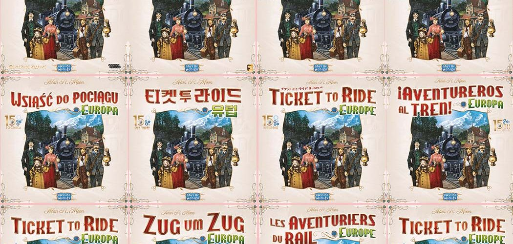 Ticket To Ride Europe 15th Anniversary Edition International Covers