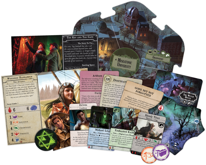Arkham Horror Secrets of the Order Expansion Components