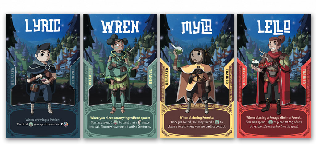 Brew Board Game Character Art