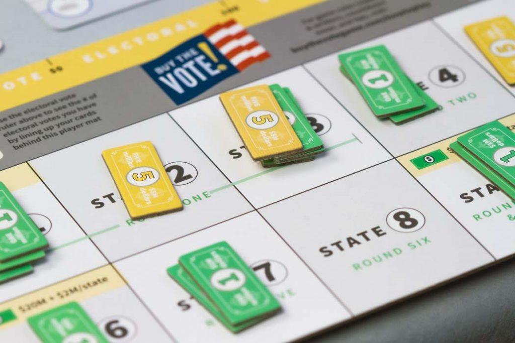 Buy The Vote Board Game Money Bid
