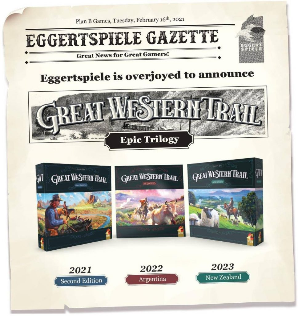 Great Western Trail Board Game Trilogy Announcement