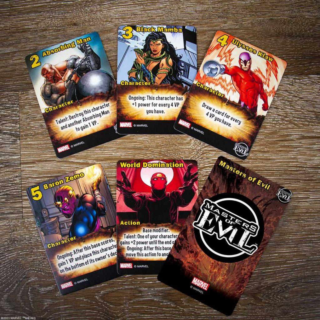 Marvel Smash Up Masters of Evil Cards