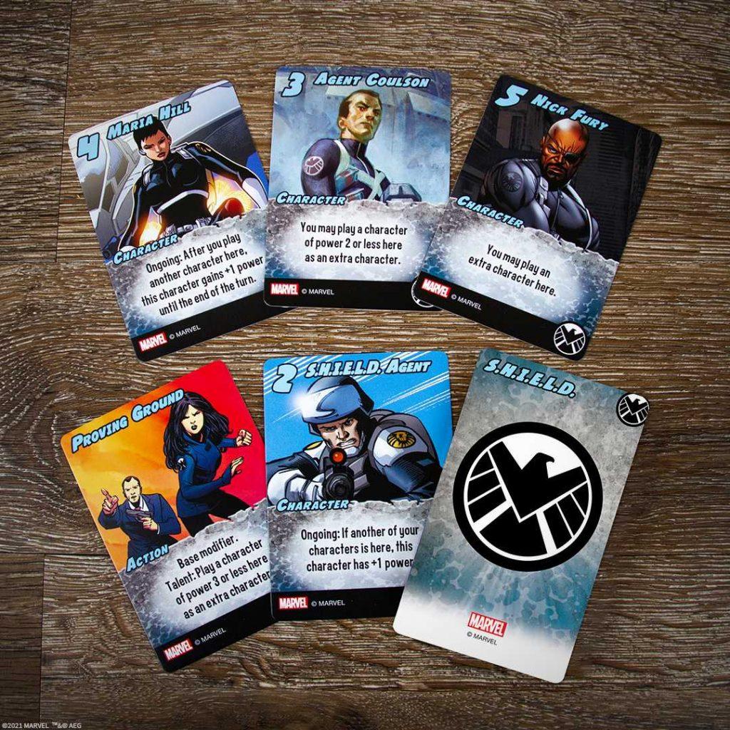Marvel Smash Up SHIELD cards