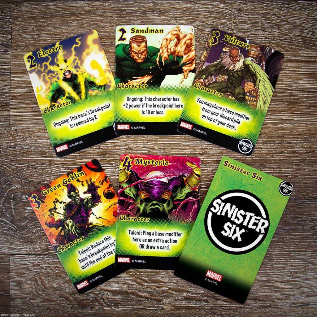 Marvel Smash Up Sinister Six Cards