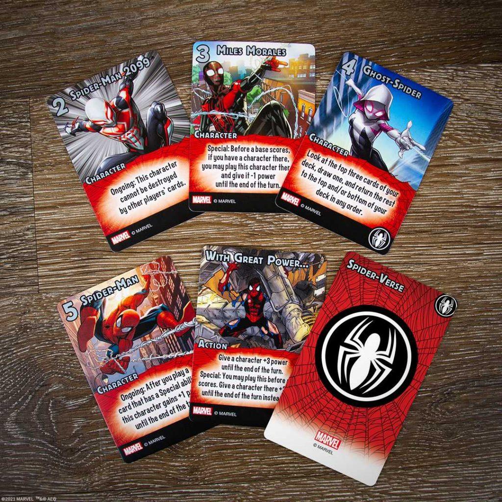Marvel Smash Up Spiderverse Cards