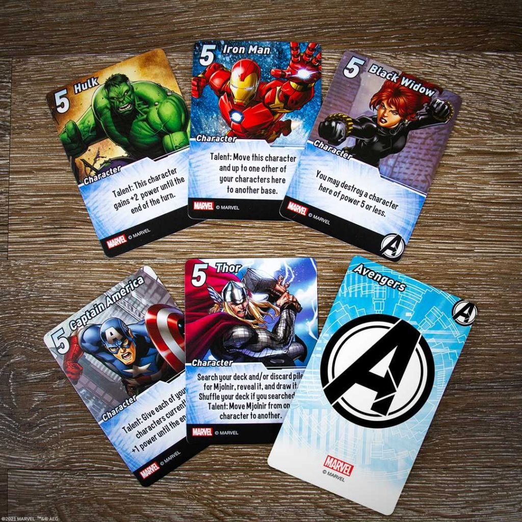 Marvel Smash Up The Avengers Cards