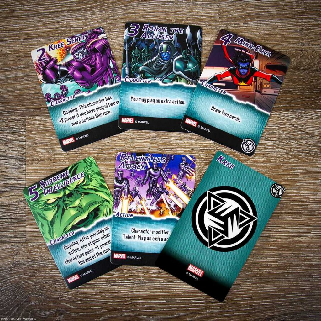 Marvel Smash Up The Kree Cards