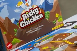Risky Chicken Board Game Box Art