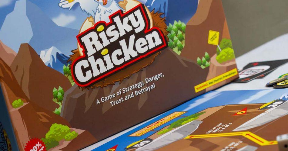 Risky Chicken Board Game Box Art